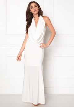 Goddiva Cowl Neck Maxi Dress White Bubbleroom.se