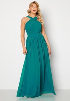 Goddiva Cross Front Chiffon Maxi Dress Sapphire bubbleroom.se