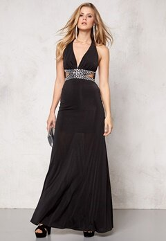 Goddiva Dress Black Bubbleroom.se