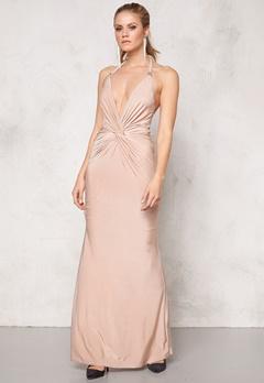 Goddiva Dress Nude Bubbleroom.no