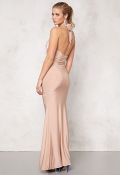 Goddiva Dress Nude Bubbleroom.se