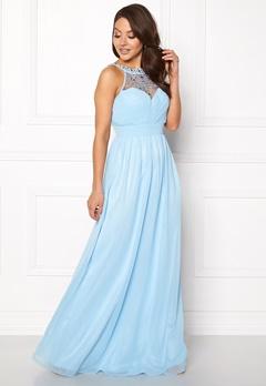 Goddiva Embellished Chiffon Maxi Dress Powder Blue Bubbleroom.se