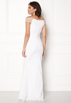 Goddiva Embellished Maxi Dress White Bubbleroom.fi