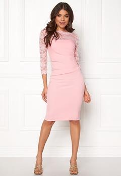 Goddiva Fitted Midi Dress Pink Bubbleroom.se