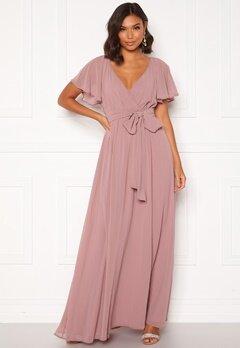 Goddiva Flutter Chiffon Dress Lavender Bubbleroom.se