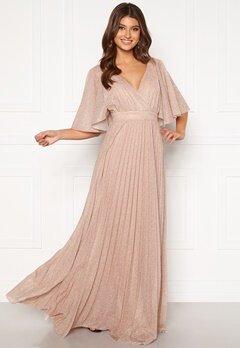 Goddiva Flutter Glitter Dress Blush Bubbleroom.se