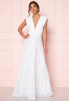 Goddiva Lace Multi Tie Maxi Dress White Bubbleroom.se