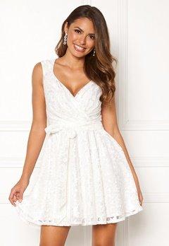 Goddiva Lace Skater Dress White Bubbleroom.se