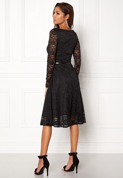 Goddiva Lace Skater Midi Dress Black Bubbleroom.fi