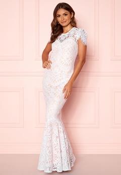 Goddiva Lace Wedding Dress White Bubbleroom.se
