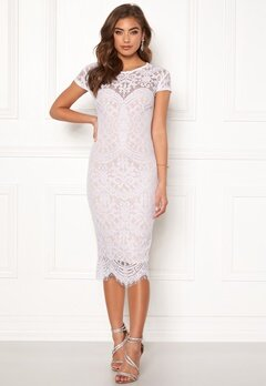 Goddiva Lisa lace dress White / Beige Bubbleroom.se