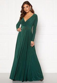 Goddiva Long Sleeve Oscar Dress Botanical Green Bubbleroom.se