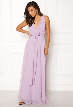Goddiva Multi Tie Chiffon Dress Iris Bubbleroom.se