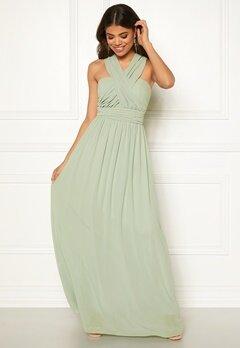 Goddiva Multi Tie Chiffon Dress Sage Green Bubbleroom.se