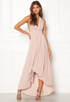 Goddiva Multi Tie High Low Dress Latte Bubbleroom.se