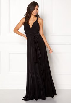 Goddiva Multi Tie Maxi Dress Black Bubbleroom.se