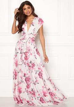 Goddiva Multi Tie Maxi Dress Floral Print Bubbleroom.se