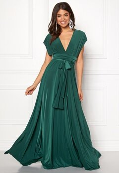 Goddiva Multi Tie Maxi Dress Green Bubbleroom.se