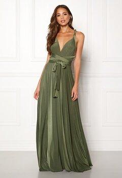 Goddiva Multi Tie Maxi Dress Olive Green Bubbleroom.se