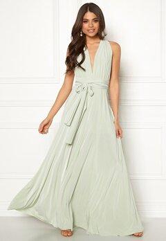 Goddiva Multi Tie Maxi Dress Pistachio Green Bubbleroom.se