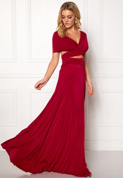 Goddiva Multi Tie Maxi Dress Red Bubbleroom.se