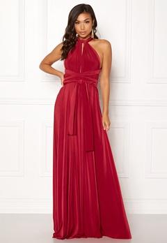 Goddiva Multi Tie Maxi Dress Red Bubbleroom.se