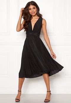 Goddiva Multi Tie Midi Dress Black Bubbleroom.se