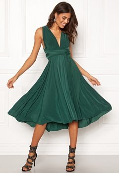 Goddiva Multi Tie Midi Dress Green Bubbleroom.se