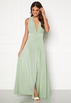 Goddiva Multi Tie Wrap Maxi Dress Dusty Green Bubbleroom.se