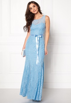 Goddiva Open Back with ribbon tie Powder Blue Bubbleroom.fi