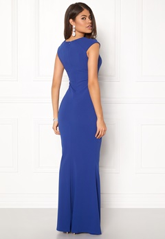 Goddiva Pleated Maxi Dress Royal Blue Bubbleroom.no