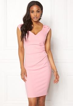 Goddiva Pleated Midi Dress Pink Bubbleroom.dk