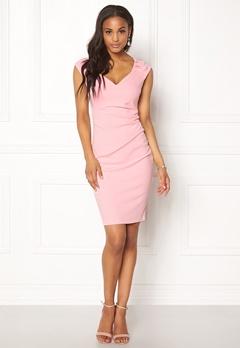 Goddiva Pleated Midi Dress Pink Bubbleroom.fi
