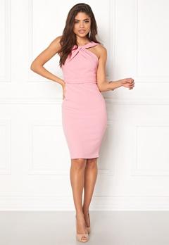 Goddiva Pleated Neckline Dress Pink Bubbleroom.dk