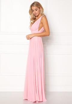 Goddiva Pleated Oscar Dress Pink Bubbleroom.fi