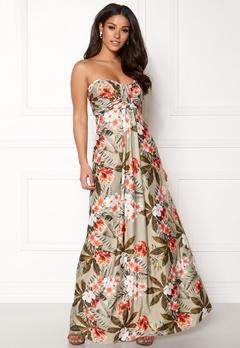 Goddiva Resort Bandeau Maxi Dress Tropical Print Bubbleroom.se