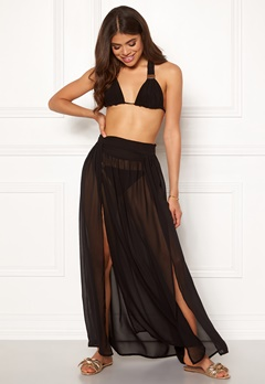 Goddiva Resort Kendra Split Maxi Skirt Black Bubbleroom.se
