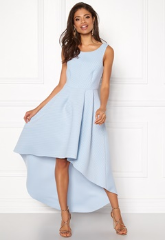 Goddiva Sleeveless High Low Dress Light Blue Bubbleroom.se