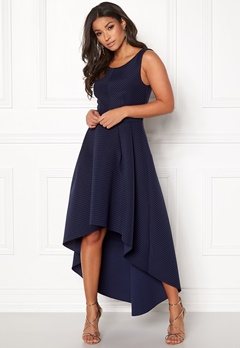 Goddiva Sleeveless High Low Dress Navy Bubbleroom.se