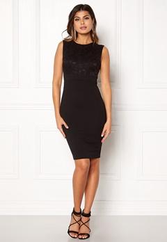 Goddiva Sleeveless Lace Dress Black Bubbleroom.no