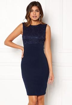 Goddiva Sleeveless Lace Dress Navy Bubbleroom.se