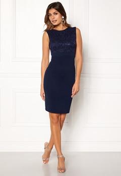 Goddiva Sleeveless Lace Dress Navy Bubbleroom.no