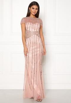 Goddiva Sunray Embellished Dress Nude Bubbleroom.se