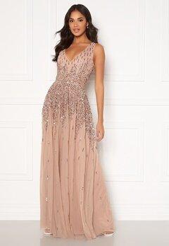 Goddiva Sunray Sequin Maxi Gown Mocha Bubbleroom.se