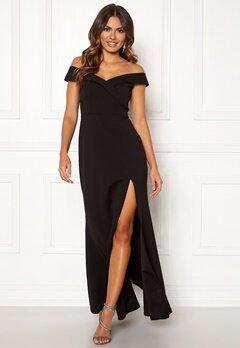 Goddiva Sweetheart Maxi Dress Black Bubbleroom.se