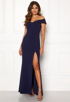 Goddiva Sweetheart Maxi Dress Navy Bubbleroom.se