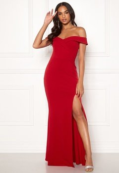Goddiva Sweetheart Maxi Dress Red Bubbleroom.se