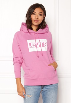 LEVI'S Graphic Sport Hoodie Black Sheep Bubbleroom.se