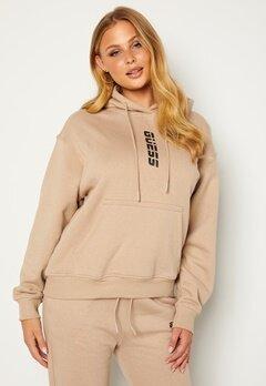 Guess Alisha Hooded Sweatshirt Gold Beige Bubbleroom.se