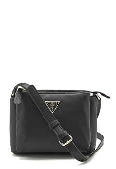 Guess Becca Double Zip Bag Black Bubbleroom.se